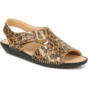 Naturalizer Scout Leather Leopard Print Sandal